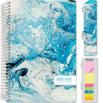 HARDCOVER Academic Year 2020-2021 Planner: (June 2020 Through July 2021) 5.5x8 Daily Weekly Monthly Planner Yearly Agenda. Bonus Bookmark, Pocket Folder and Sticky Note Set (June 2020 - July 2021)