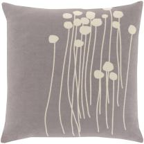 Artistic Weavers LJA005-2020D Down Fill Pillow, 20-Inch by 20-Inch, Gray/Ivory