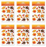 Beistle S94001AZ6 fall leaf stickers, Multicolored