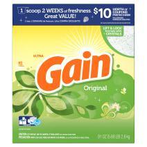 Gain HEC Ultra Original Powder Laundry Detergent, 80 Loads, 91 Oz