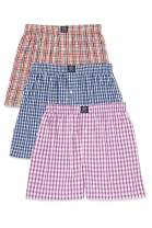 Badger Smith Men's 5 - Pack Cotton Checks Multicolor Boxer Shorts S Multi