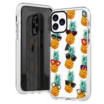 iPhone 11 Pro Max Case,Hipster Funny Cool Pineapple with Sunglasses Tropical Aloha Summer Beach Fruits Trendy Chic Sassy Girls Women Teens Soft Clear Case with Design Compatible for iPhone 11 Pro Max