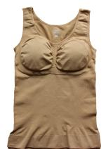 Cabales Women's Tank Top Cami Shaper with Removable Pads