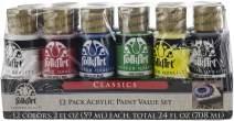FolkArt 12 Color Acrylic Paint Set, Classics
