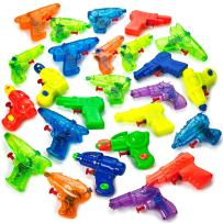 Kicko Small Squirt Guns for Kids - 25 Pieces Water Squirting Toys Assortment - Plastic Multicolor Pistol Blasters for Summer Pool Activities, Barbecue Picnics, Beach Party Favors