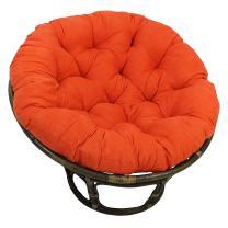 "Blazing Needles Solid Microsuede Papasan Chair Cushion, 52"" x 6"" x 52"", Tangerine Dream"