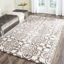 Safavieh Dip Dye Collection DDY711F Handmade Moroccan Geometric Watercolor Ivory and Brown Wool Area Rug (2' x 3')