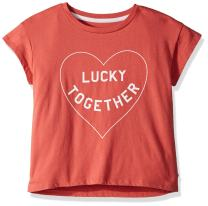 Lucky Brand Girls' Short Sleeve Attitude Tee Shirts