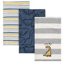 Gerber Baby Boys' 3 Pack Knit Burp Cloth