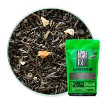 Tiesta Tea Chinese Jasmine Classic Jasmine Green Tea, 30 Servings 1.8 Ounce Pouch, Medium Caffeine, Loose Leaf Green Tea Slenderizer Blend, Non-GMO