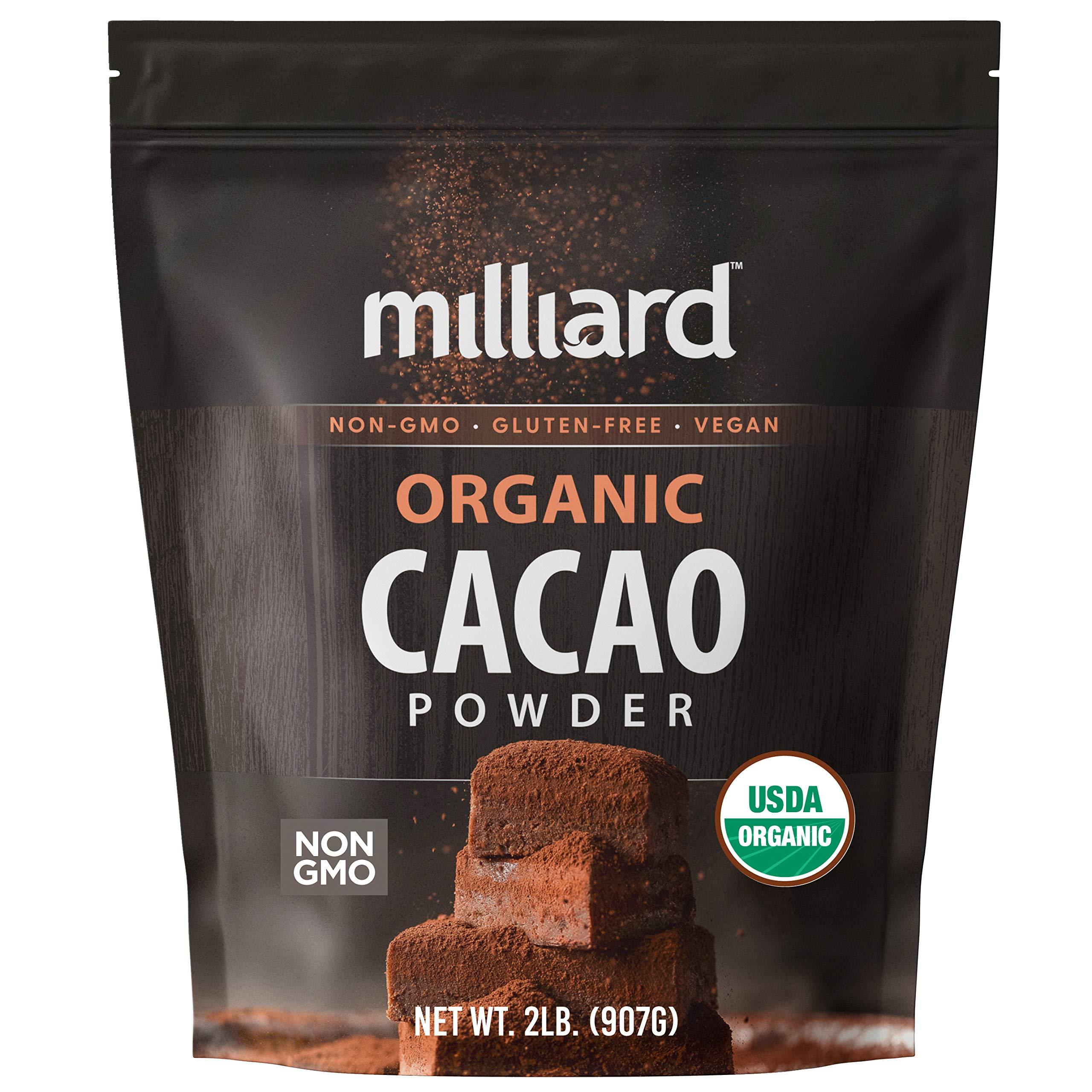 Milliard Organic Cacao Powder / Non-GMO and Gluten Free / 2 lbs.