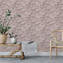 Tempaper CL10590 Removable Peel and Stick Wallpaper, Clouds, Fog Grey