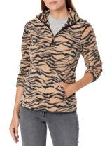 Amazon Essentials Women's Classic Fit Long-Sleeve Quarter-Zip Polar Fleece Pullover Jacket