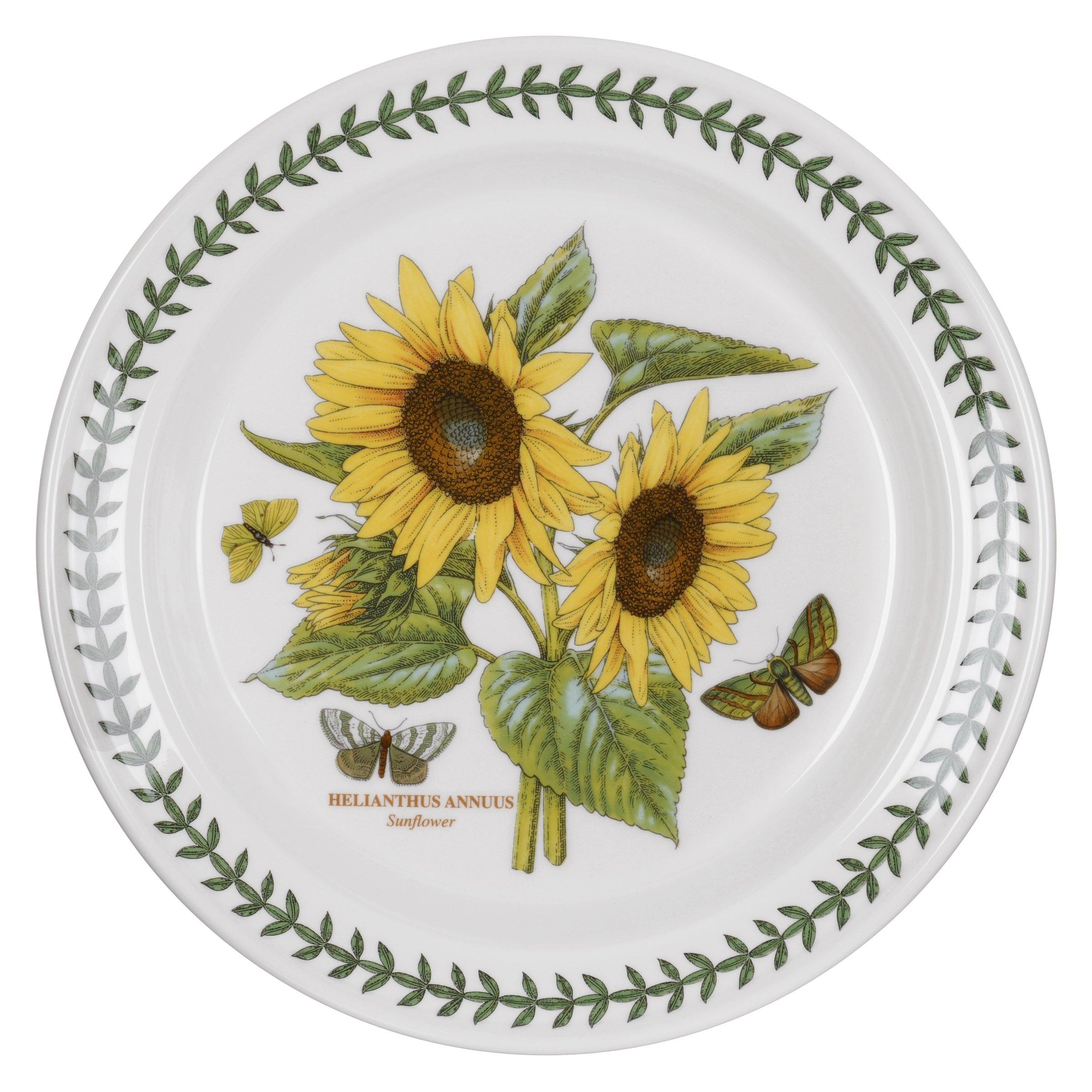 Portmeirion Botanic Garden Dinner Plate, Sunflower Motif, Set of 6
