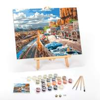 """Paint by Numbers for Adults: Beginner to Advanced Number Painting Kit - Fun DIY Adult Arts and Crafts Projects - Kits Include (Vacation in The USA, 12"""" x 16"""" Framed)"""