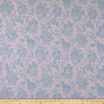 Telio 0572612 Jasmeen Jacquard Floral Baby Pink/Blue Fabric by the Yard