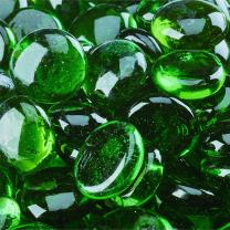 Pine Mountain - Fire Glass Beads for Indoor and Outdoor Fire Pits or Fireplaces | 10 Pounds | 3/4 Inch