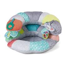 Infantino 2-in-1 Tummy Time & Seated Support - Pillow Support for Newborns and Older Babies, with Detachable Support Pillow and Toys, for Development of Strong Head and Neck Muscles