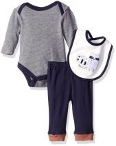 Rene Rofe Baby 3 Piece Take Me Home Set with  Coverall Bodysuit and Bib Set