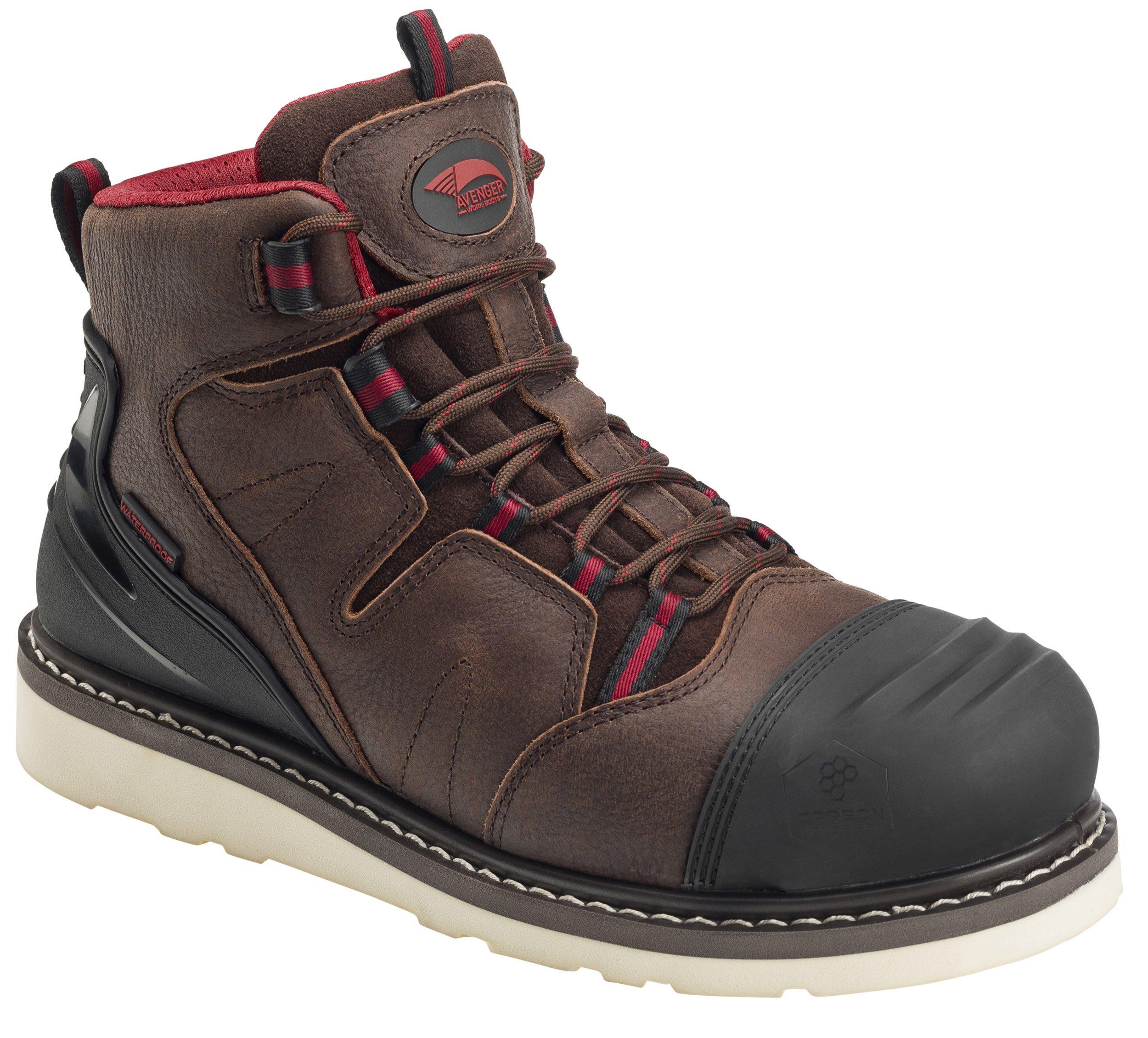 "Avenger Men's 6"" Waterproof Work Boot Composite Toe - A7506"