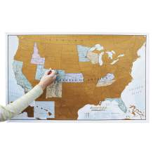 Maps International Scratch Off Map of The US – USA Wall Map – Scratch Off – Detailed Cartography - US States - National Parks - 24 x 36