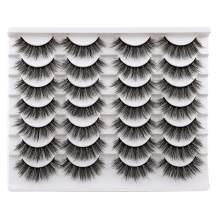 JIMIRE 14 Pairs False Eyelashes Fluffy Natural Eyelashes 3D Volume Faux Mink Lashes Pack