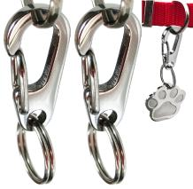 Sundesign Stainless Steel Dog Tag Quick Clips