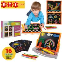 ETI Toys, 58 Piece Lace and Trace with Board. Draw House, Duck, Car, Trees, People, Sun and More. 100 Percent Safe, Fun, Creative Skills Development. Gift, Toy for 6, 7, 8 Year Old Boys and Girls