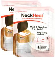 NeckHeat Air-Activated Neck & Shoulder Pain Relief Heat Therapy Patch - Pack of 6 (Patches/Wraps/Pads)