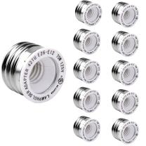 E26 to E12 Adapter 10-Pack JACKYLED E27 to E12 UL-listed Maximum Wattage 75W Heat Resistant No Fire Hazard
