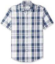 Amazon Essentials Men's Slim-Fit Short-Sleeve Casual Poplin Shirt