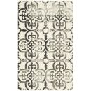 Safavieh Dip Dye Collection DDY711D Handmade Moroccan Geometric Watercolor Ivory and Charcoal Wool Area Rug (3' x 5')