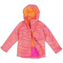 Arctic Quest Girls Windproof Waterproof Insulated Hooded Winter Snow and Ski Jacket with Zippered Pockets