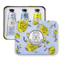 La Chatelaine Deluxe Hand Cream Lavender Collection, Set of 3 x 1 Oz: Plant-Based, Made in France with 20% Organic Shea Butter & Argan Oil, featuring Lavender, Lychee Bilberry, Lemon Verbena