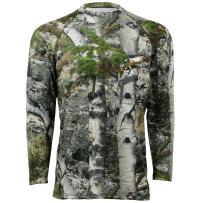 Mossy Oak Mens Camo Long Sleeve Performance Tech Tee Hunting Shirt