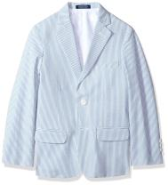 IZOD Boys' Big Seersucker Blazer Jacket
