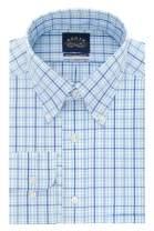 Eagle Men's Dress Shirt Regular Fit Non Iron Stretch Collar Plaid