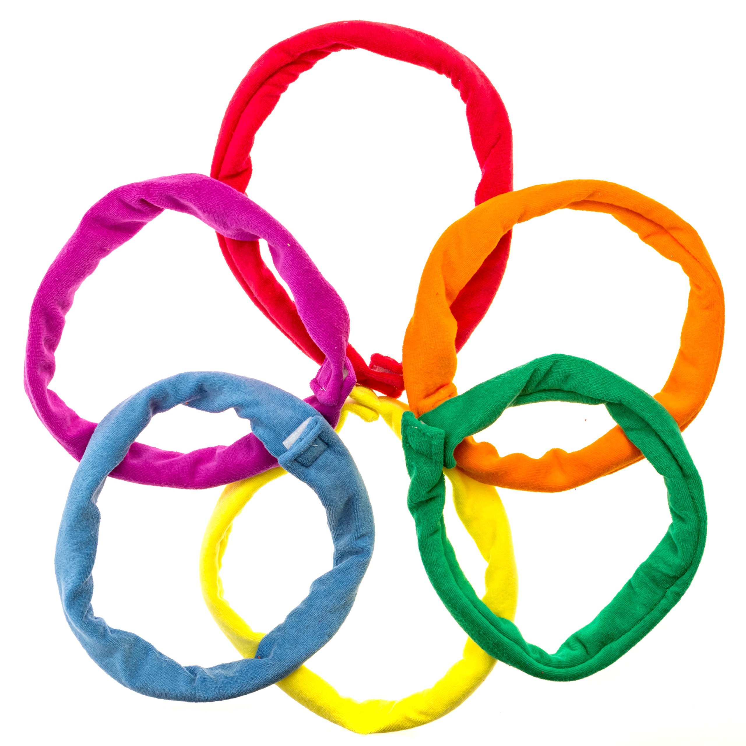 Chew Bands Necklaces 6-Pack Terry Cloth Super Absorbent Alternative to Chewing Shirts and Clothing