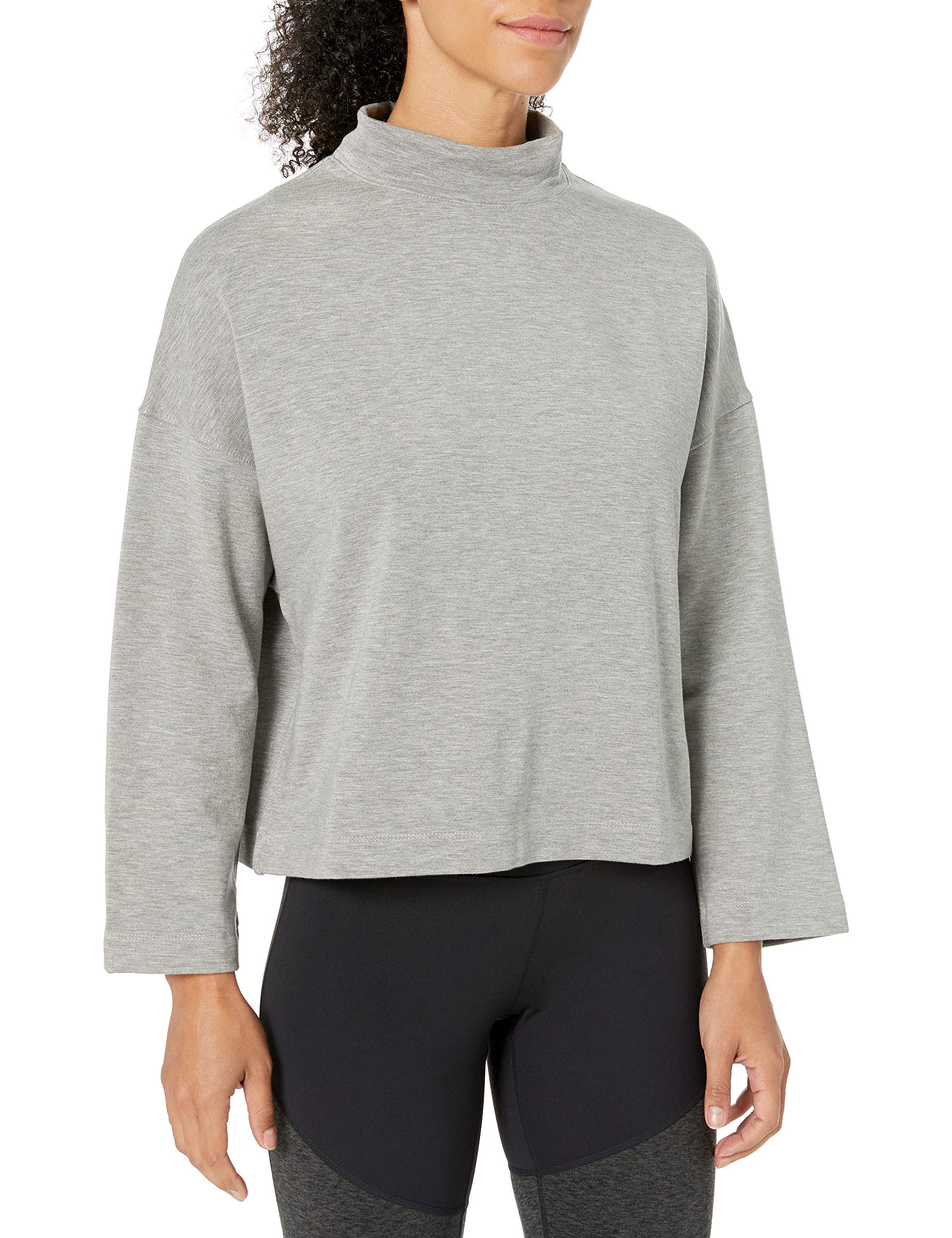 Amazon Brand - Core 10 Women's (XS-3X) Cloud Soft Yoga Fleece Mock Dolman Sweatshirt