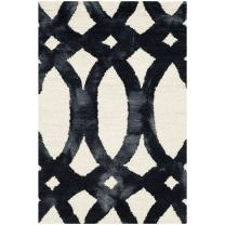 Safavieh Dip Dye Collection DDY675D Handmade Geometric Watercolor Ivory and Graphite Wool Area Rug (2' x 3')