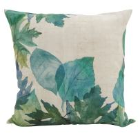 """SARO LIFESTYLE De Lea Collection Watercolor Leaf Down Filled Throw Pillow, 20"""", Multi"""