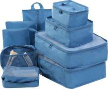 Travel Packing Cubes Set Toiletry Kits Bonus Shoe Bag JJ POWER Luggage Organizers