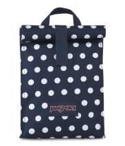 JANSPORT Rolltop Lunch Bag - Dark Denim Polkadot Print