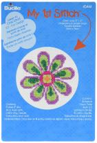 Bucilla Mini Counted Cross Stitch Kit, 5.125 by 7.625-Inch, 45444 Flower