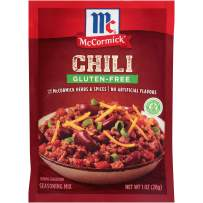 McCormick Chili Seasoning Mix, Gluten Free, 1 oz Pouch (pack of 12- total 12 ounce)