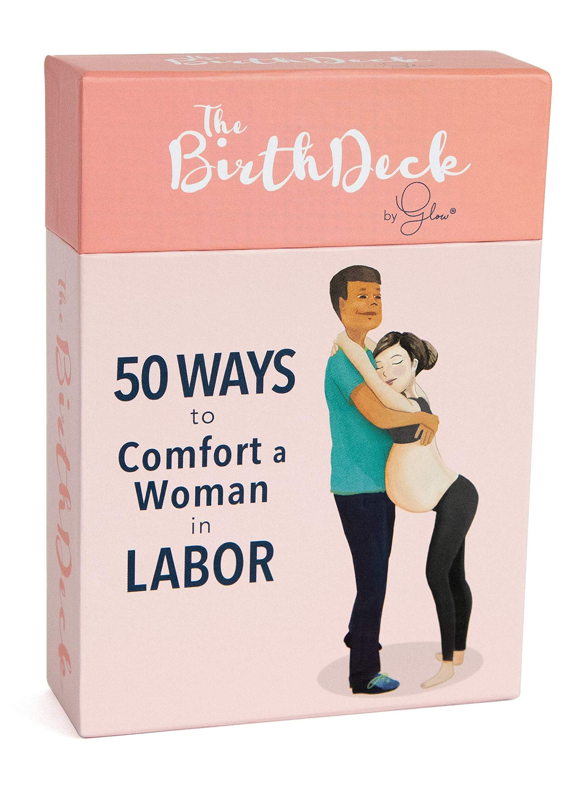 The Birth Deck by Glow: 50 Ways to Comfort a Woman in Labor, Must Have Baby Shower Registry Gift for Mom and Dad, Girl and Boy, Reduce Pain Like a Doula