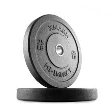 XMark Go Green Bumper Plates, Three-Year Warranty, Hi-Impact Commercial Olympic Bumper Weight Plates, XM-3391