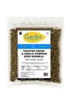 Toasted Onion & Garlic Pumpkin Seed Kernels, 2 LBS by Gerbs – Top 14 Food Allergy Free & NON GMO - Vegan & Kosher - Dry Roasted Seasoned Premium Quality Seeds Grown in Mexico