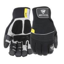 West Chester 96650 Yeti Waterproof Winter Gloves [Black] – 10.25 in. Length, 4.5 in. Width with PU Patch, PVC Grip. Synthetic Leather Safety Gloves