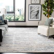 Safavieh Amelia Collection ALA768A Modern Contemporary Abstract Area Rug, 9' x 12', Ivory/Blue